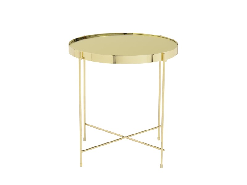 french gold metallic side table