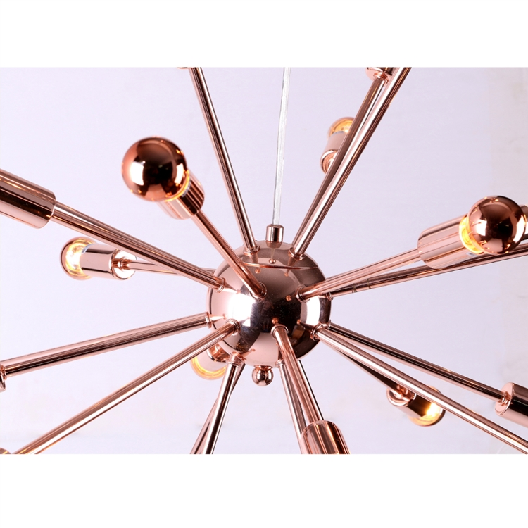 medium sputnik rose gold chandelier