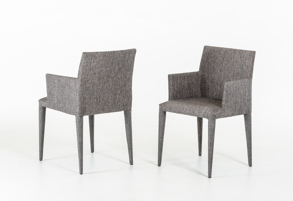 mill gray wool armchair 2