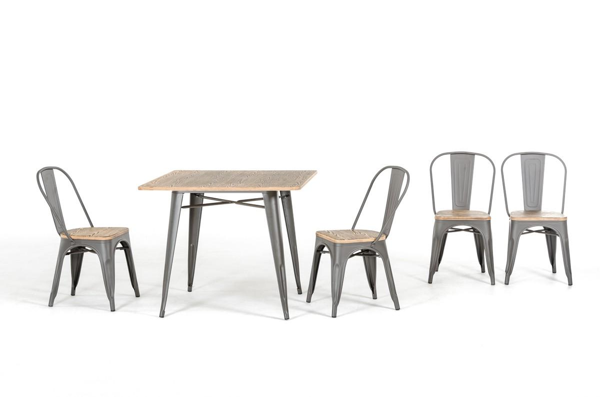 tonic metal wood grain chairs