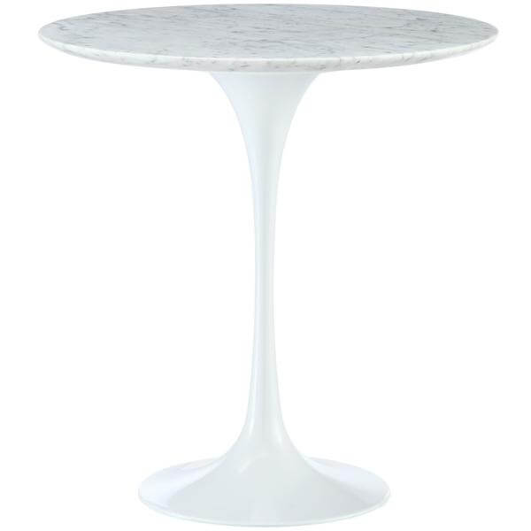 white marble tulip table