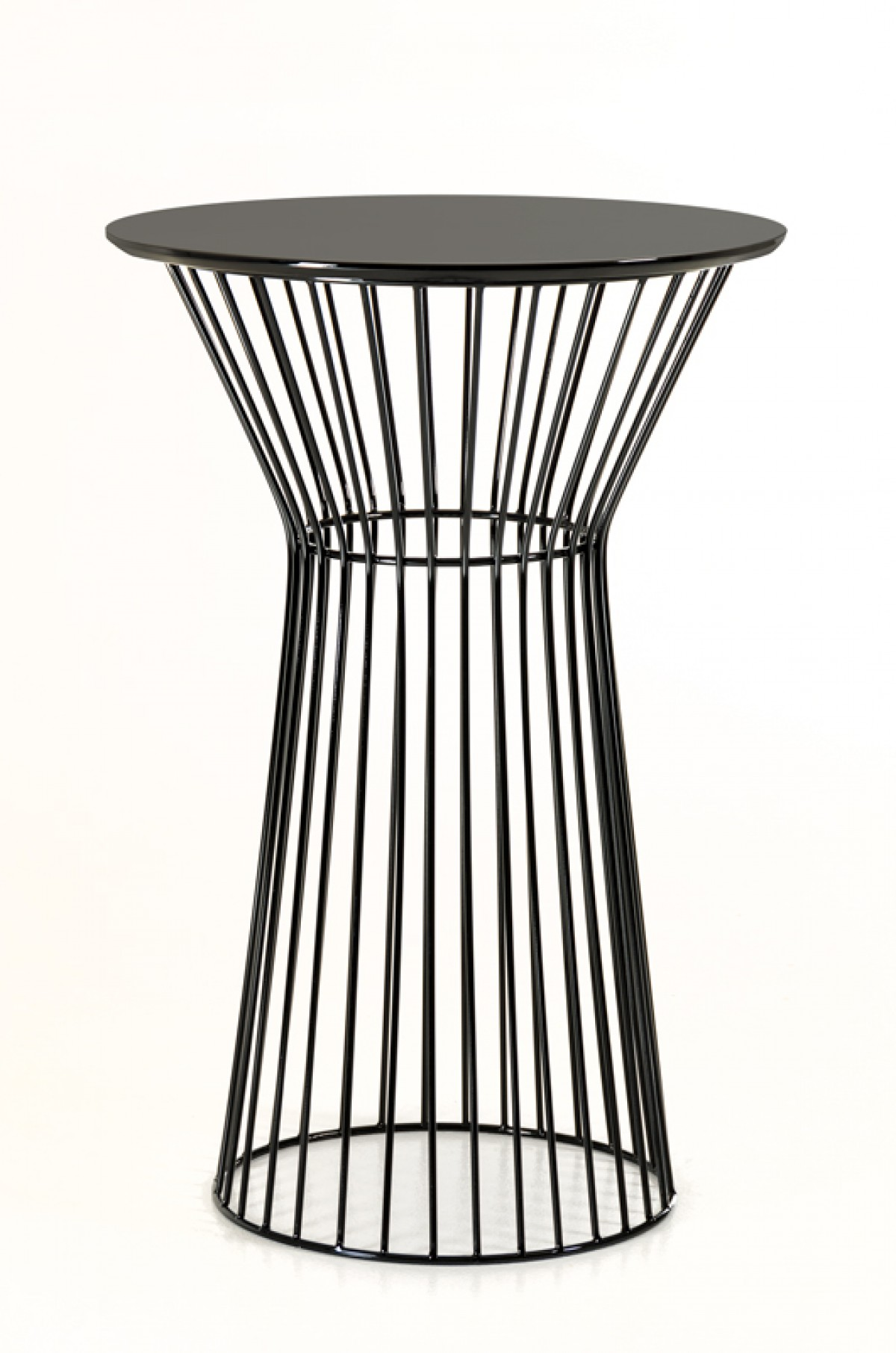 wire black bar table