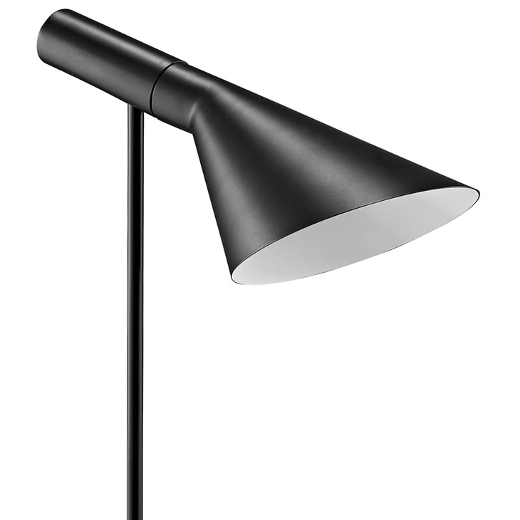 black modern table lamp