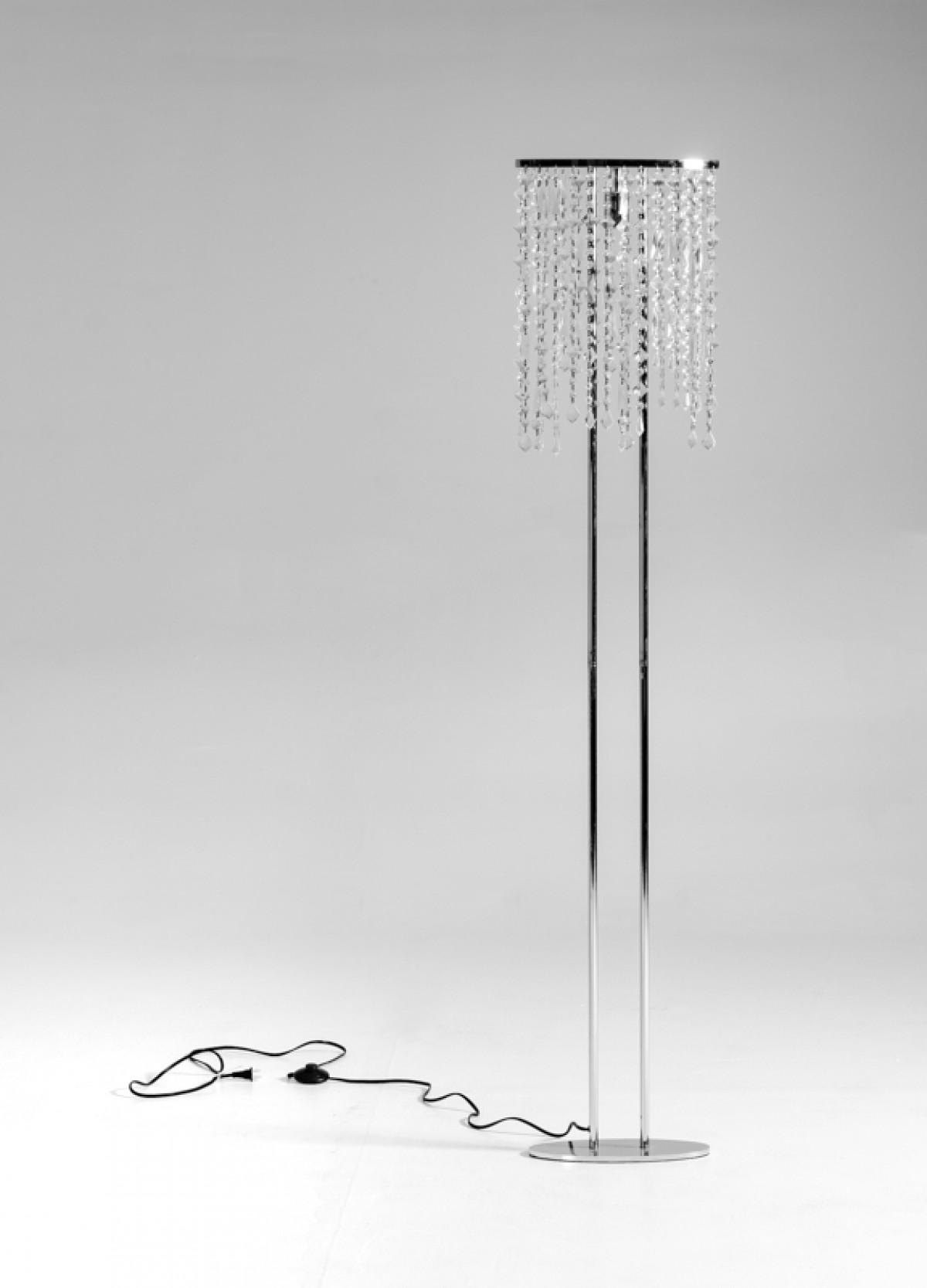 hanging crystal floor lamp
