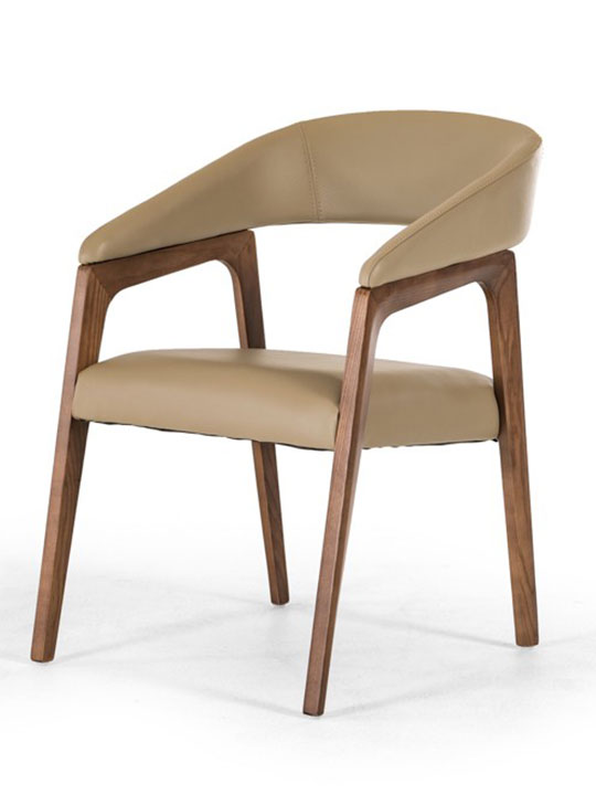 taupe leather accent chair