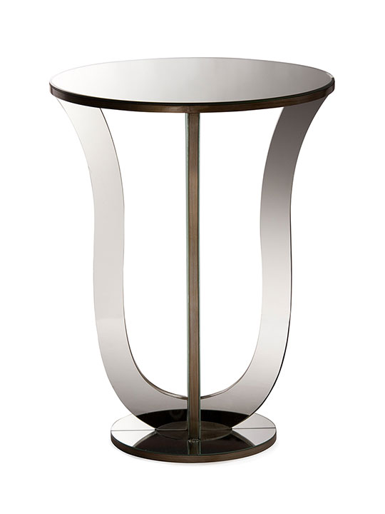 modern mirror end table