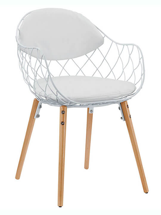 white wire accent chair
