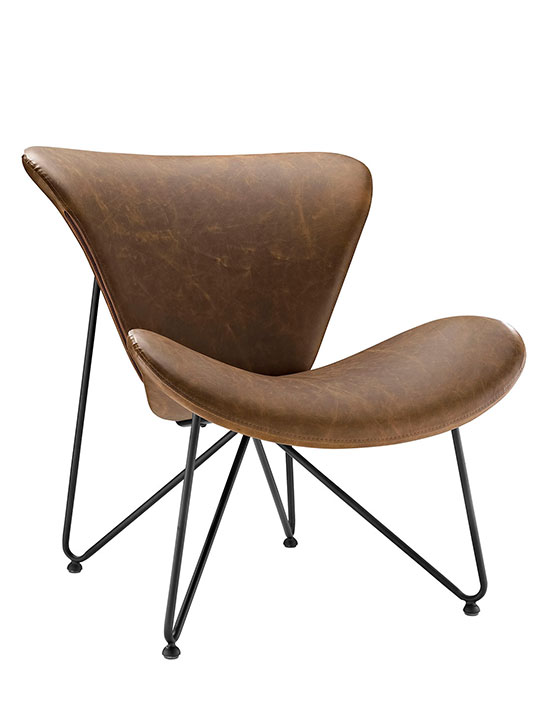 beacon leather lounge chair