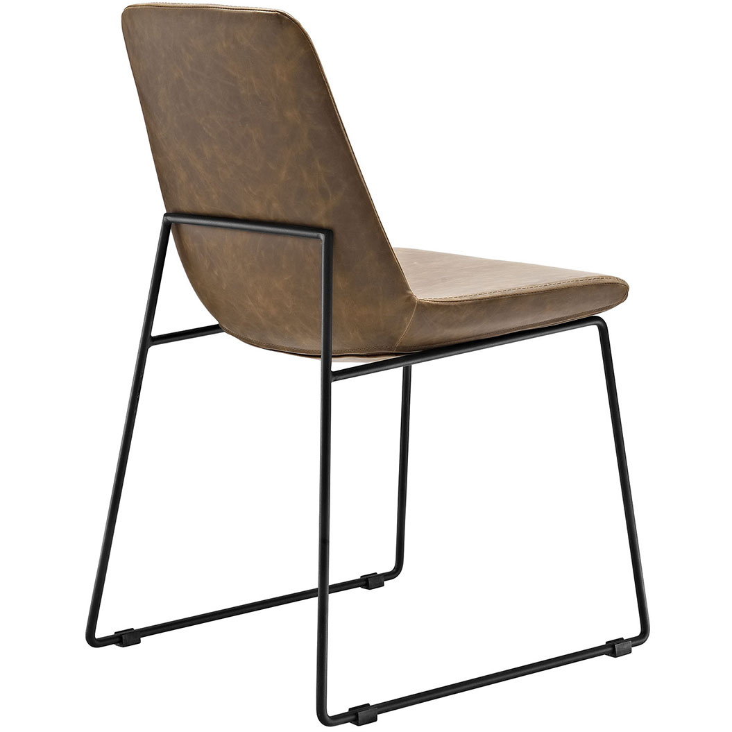 beacon side chair brown