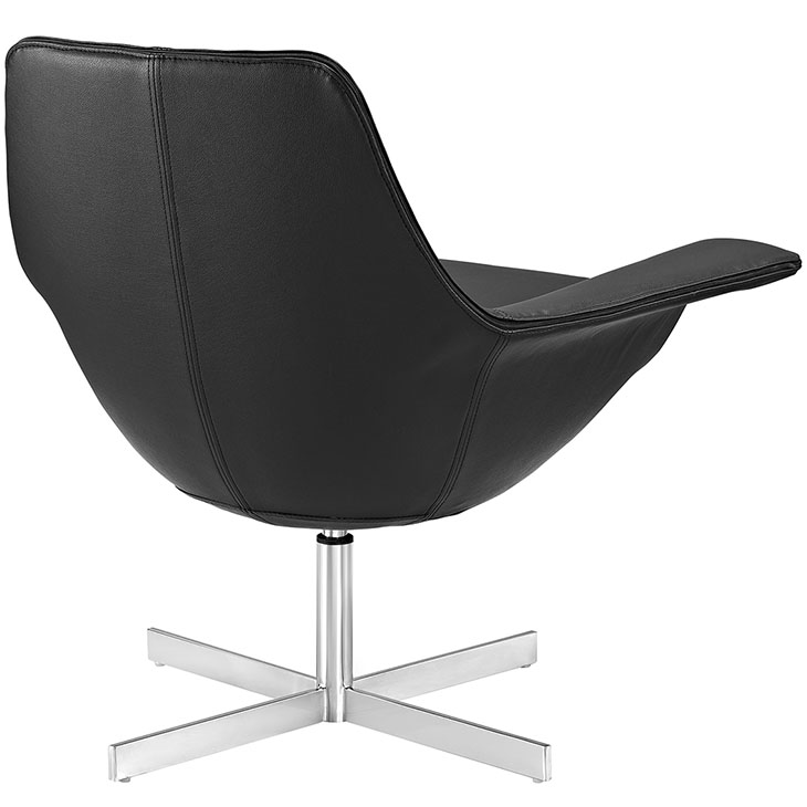 black wing arm chair