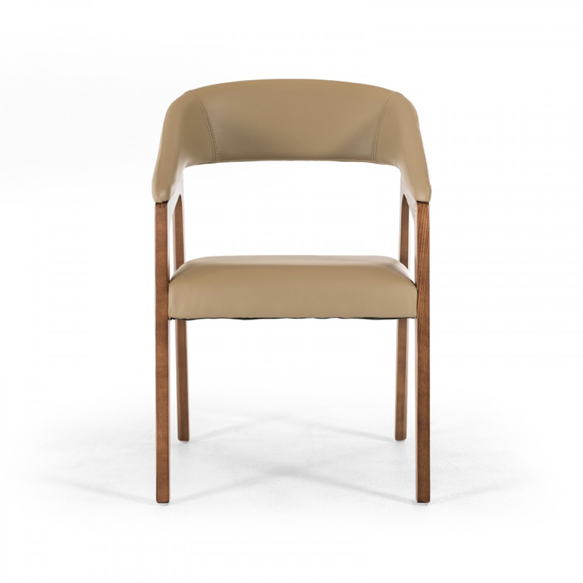 decca taupe leather chair 3