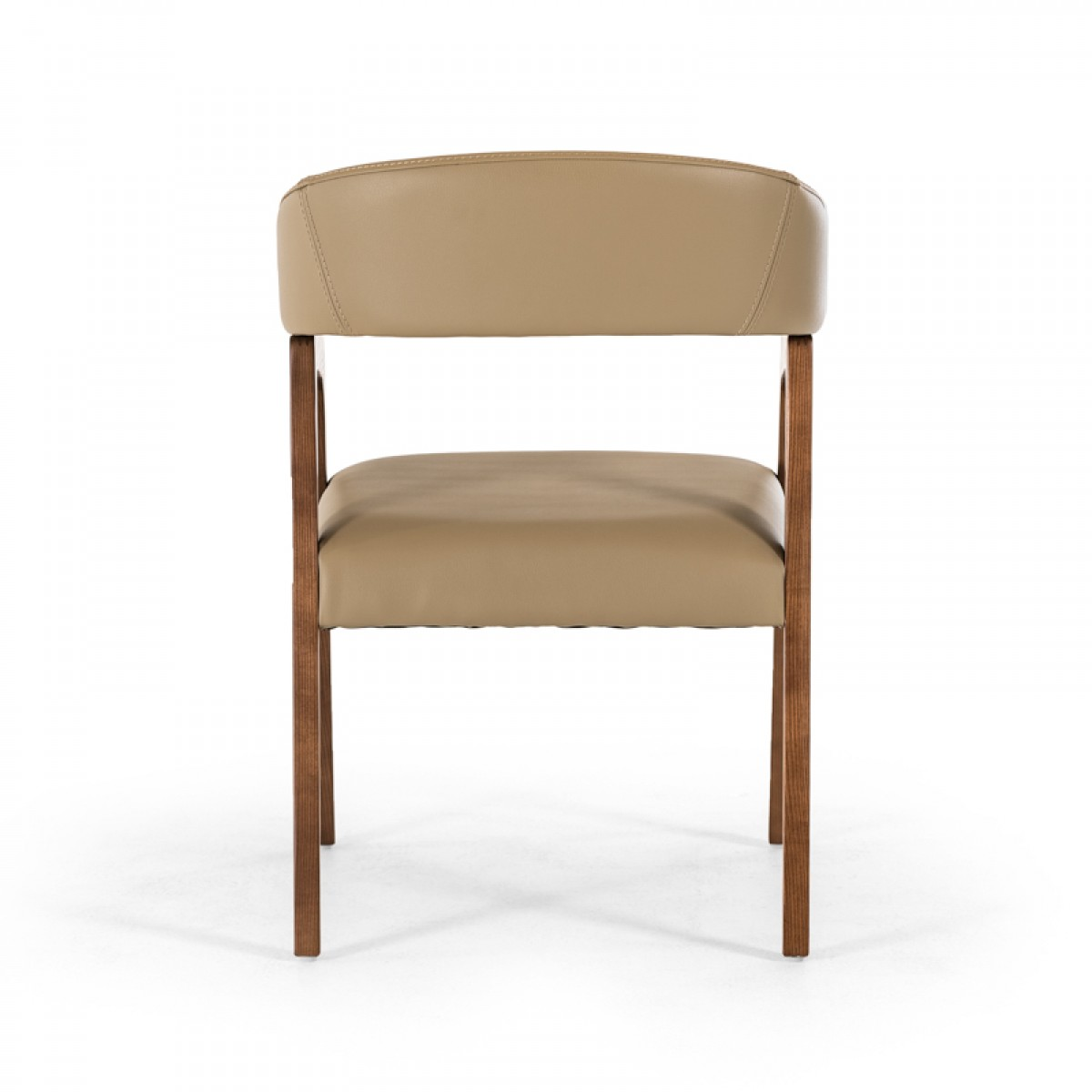 decca taupe leather chair 4