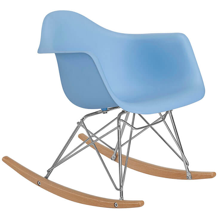 kids blue rocking chair 3