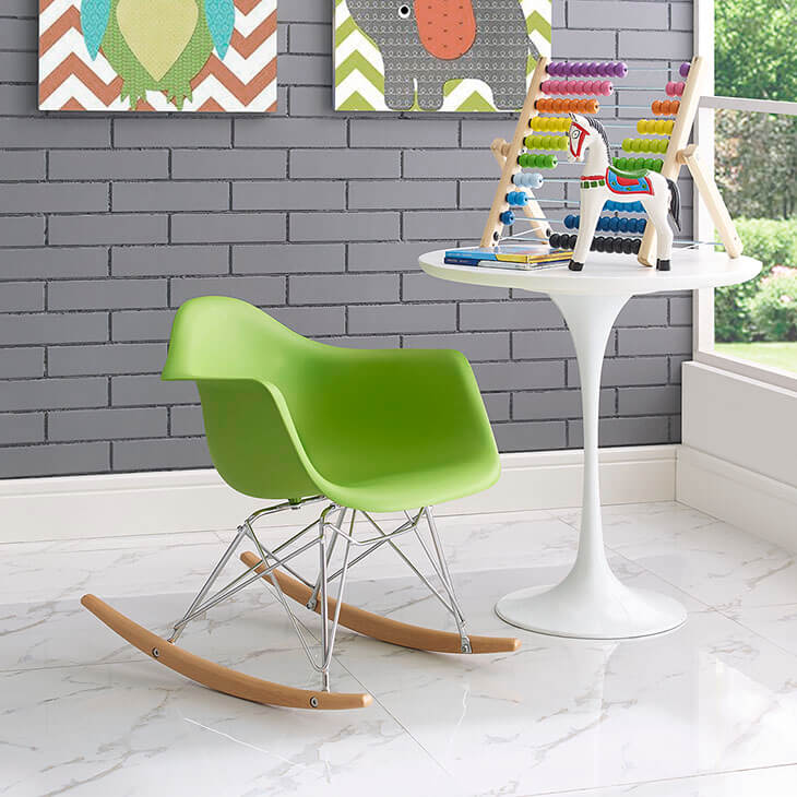 kids green rocking chair 5