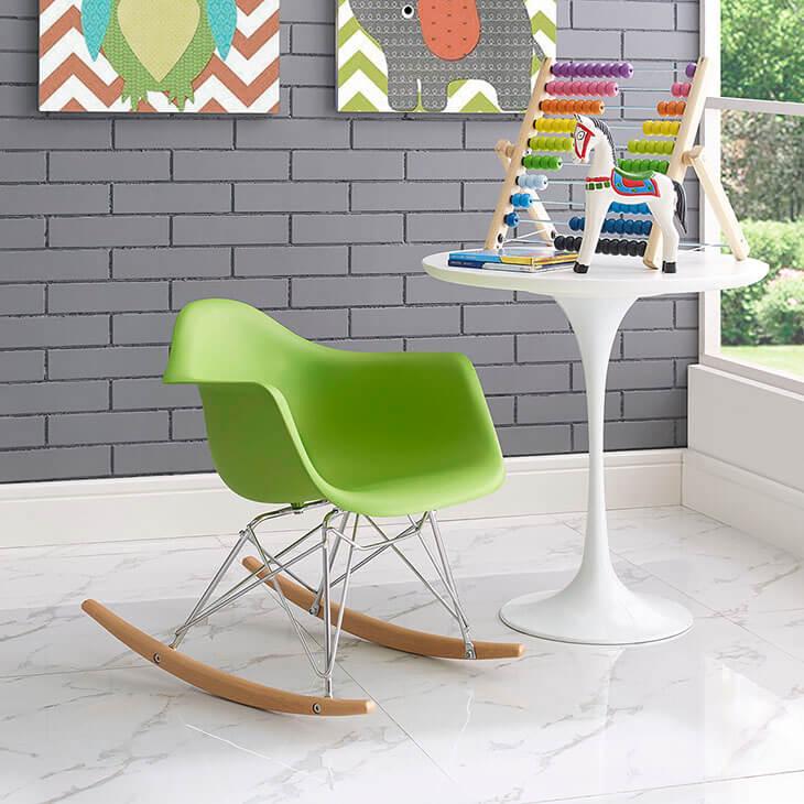 kids green rocking chair 5