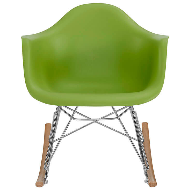 kids green rocking chair