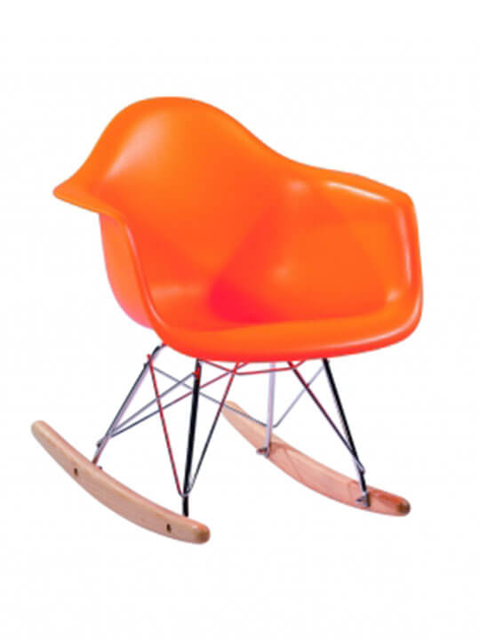 kids rar orange rocking chair