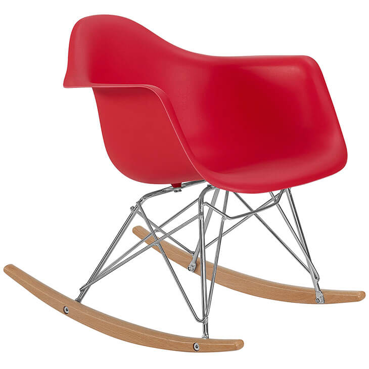 kids red rocking chair 2