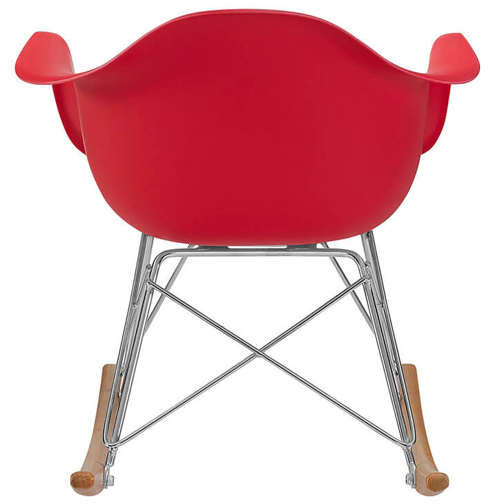 kids red rocking chair 4