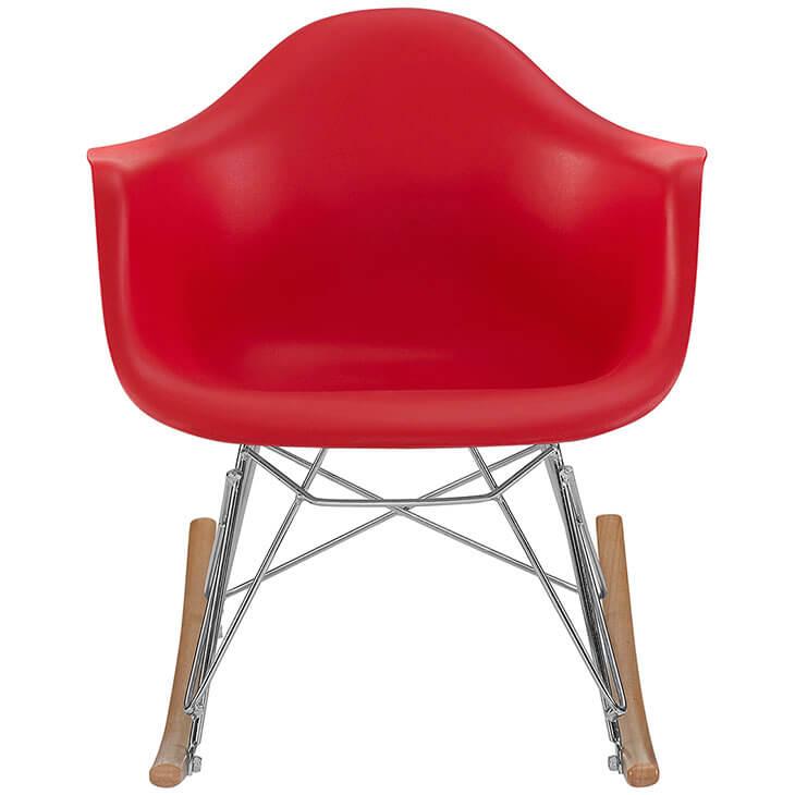 kids red rocking chair