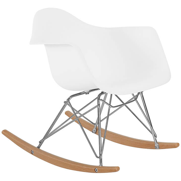 kids white rocking chair 2