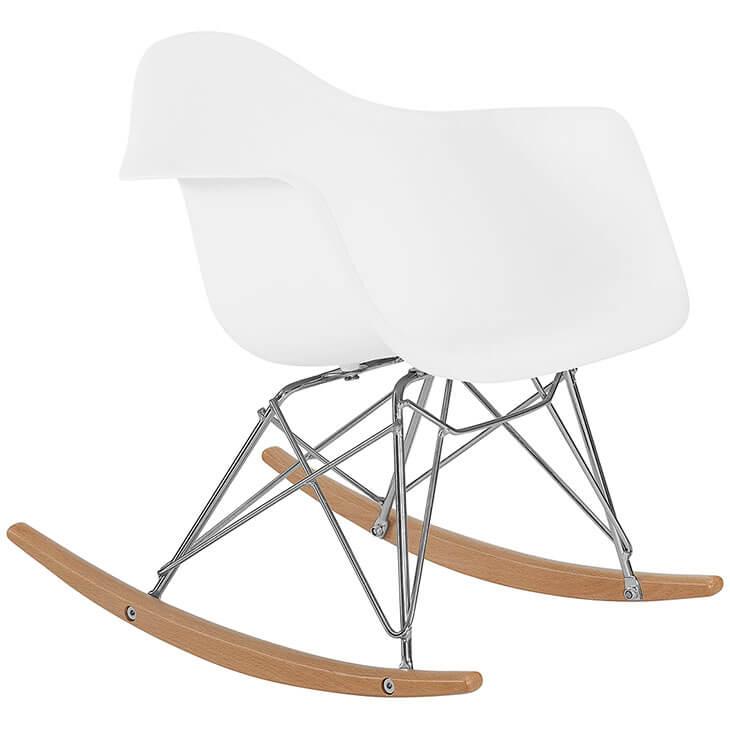 kids white rocking chair 2