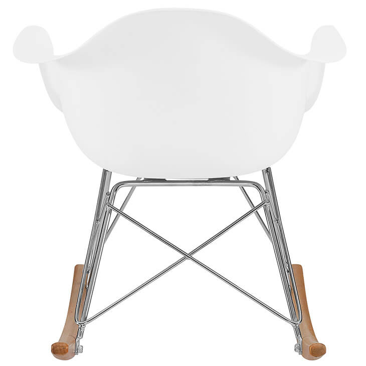 kids white rocking chair 4