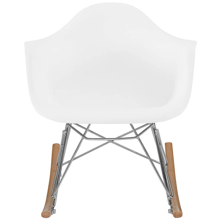 kids white rocking chair