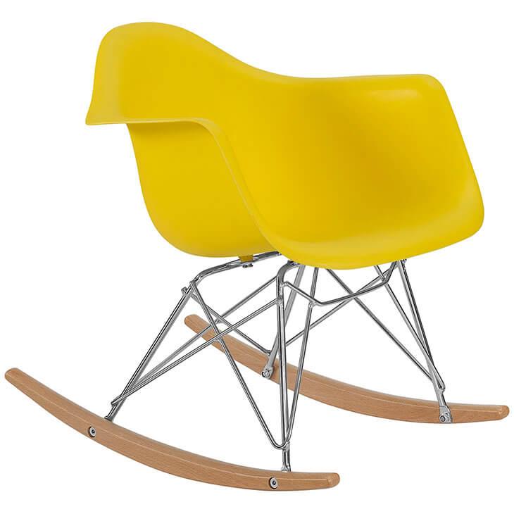 kids yellow rocking chair 2