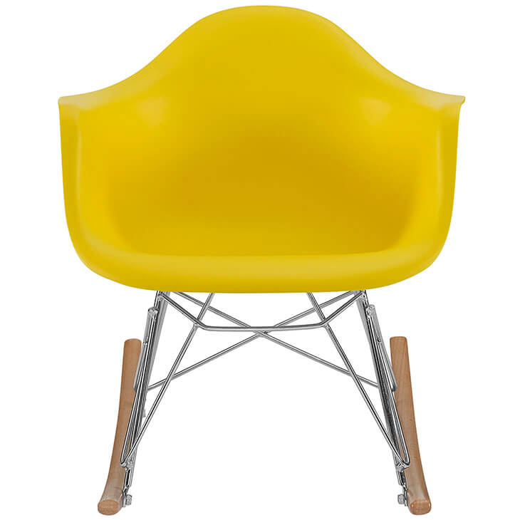 kids yellow rocking chair
