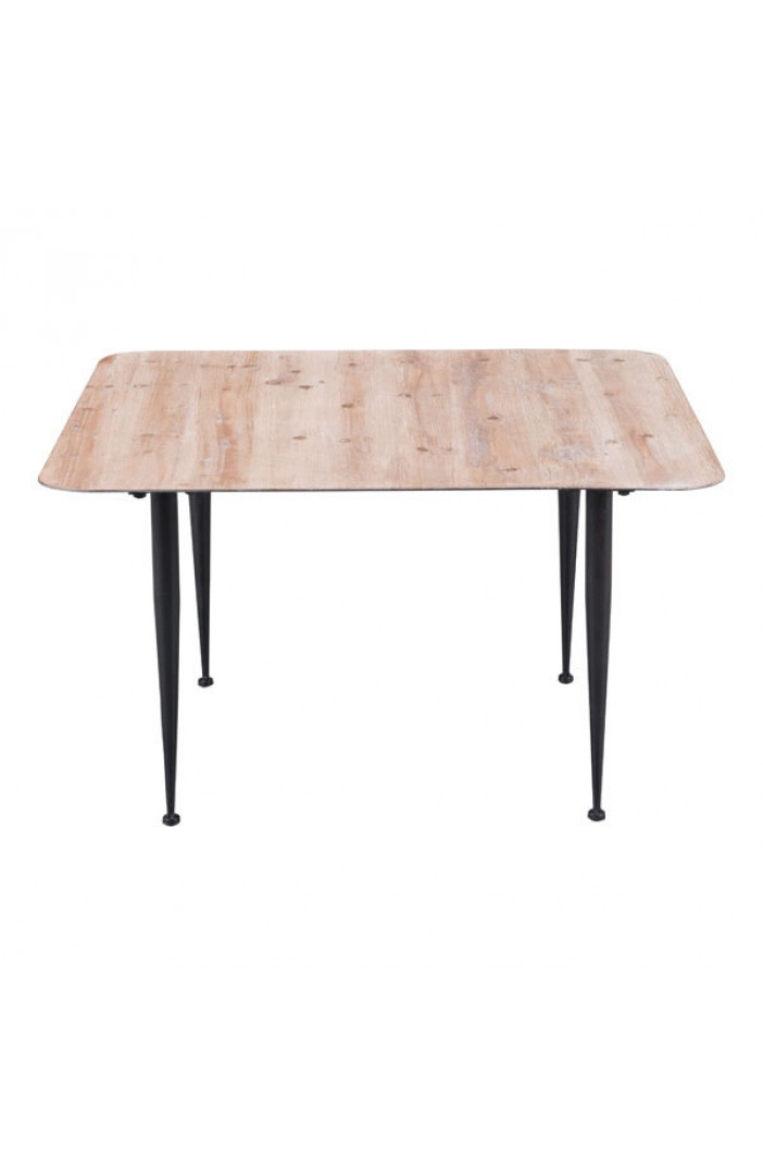 mid century modern natural wood square coffee table