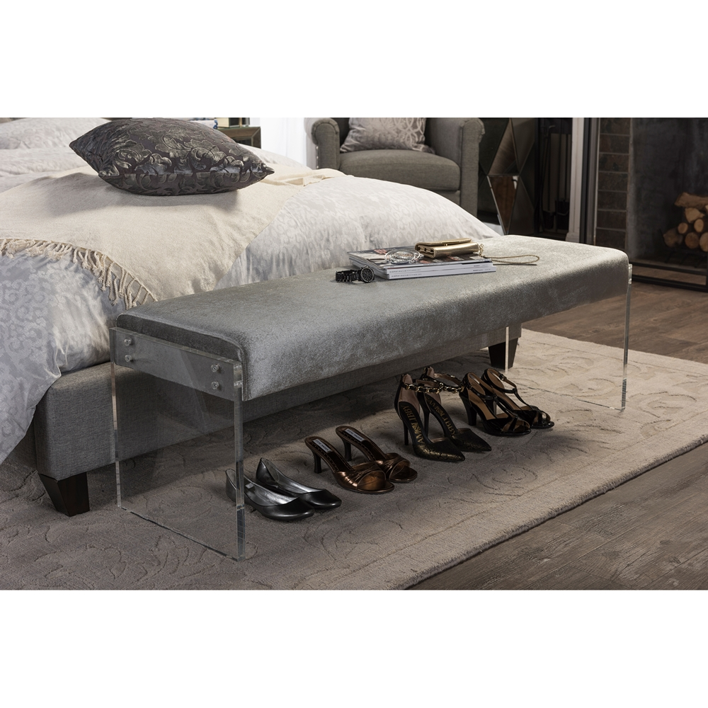 regency acrylic bench gray 4