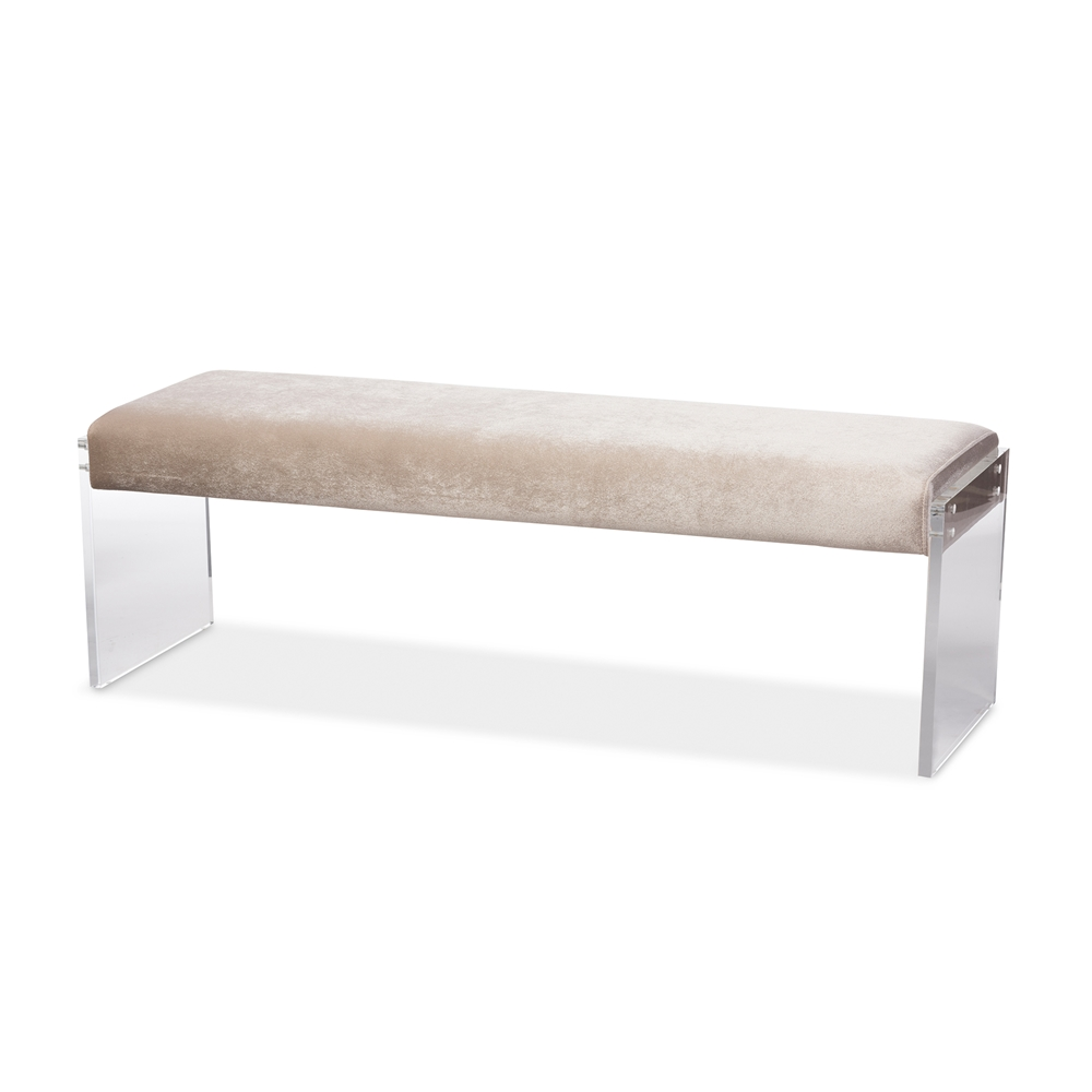 regency acrylic bench taupe 3
