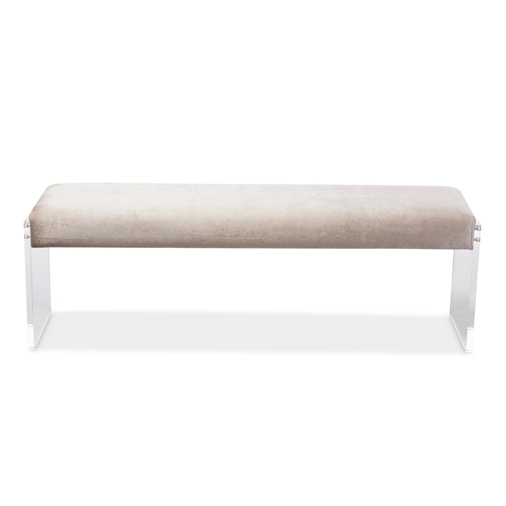 regency acrylic bench taupe