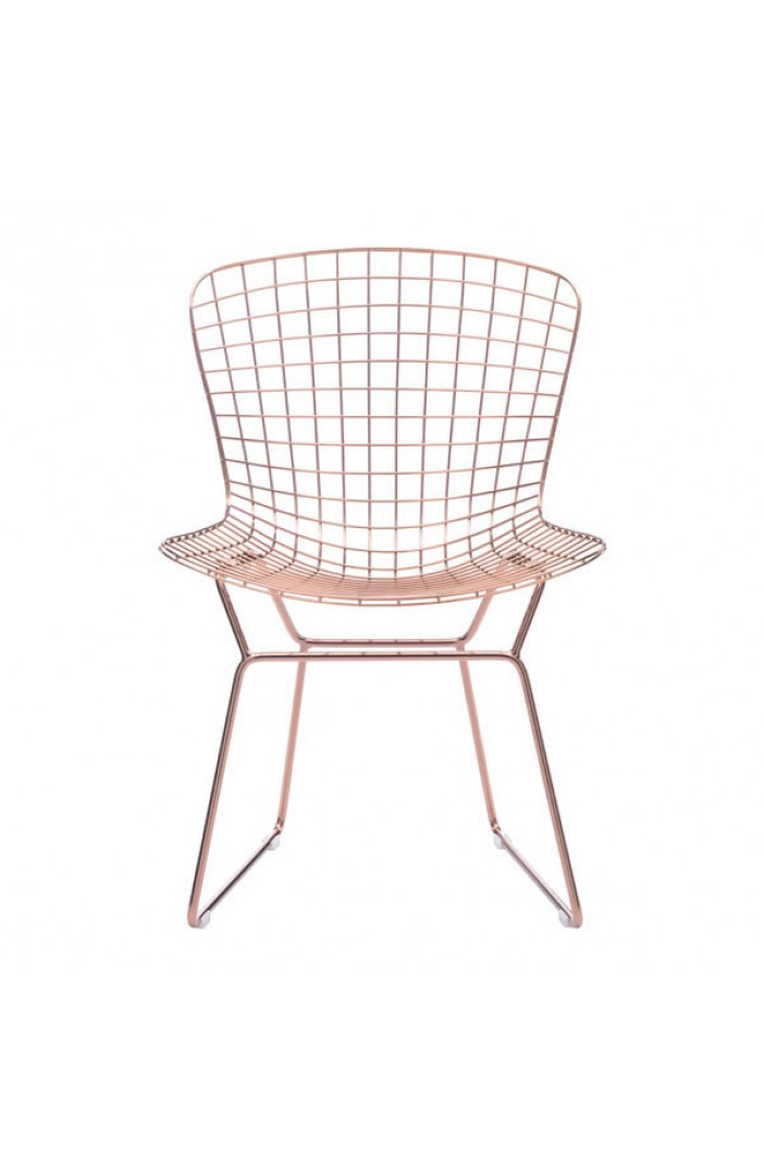 rose gold wire chair