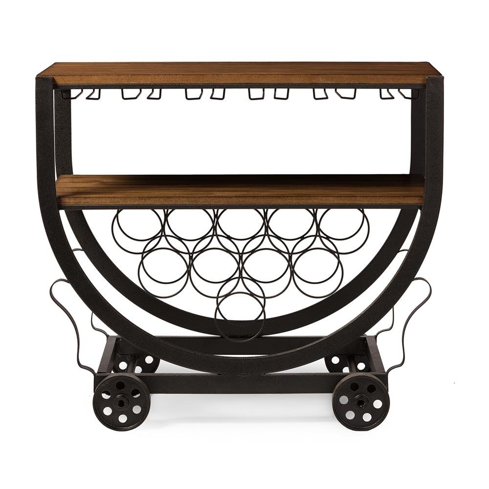 steampunk rolling bar cart 1