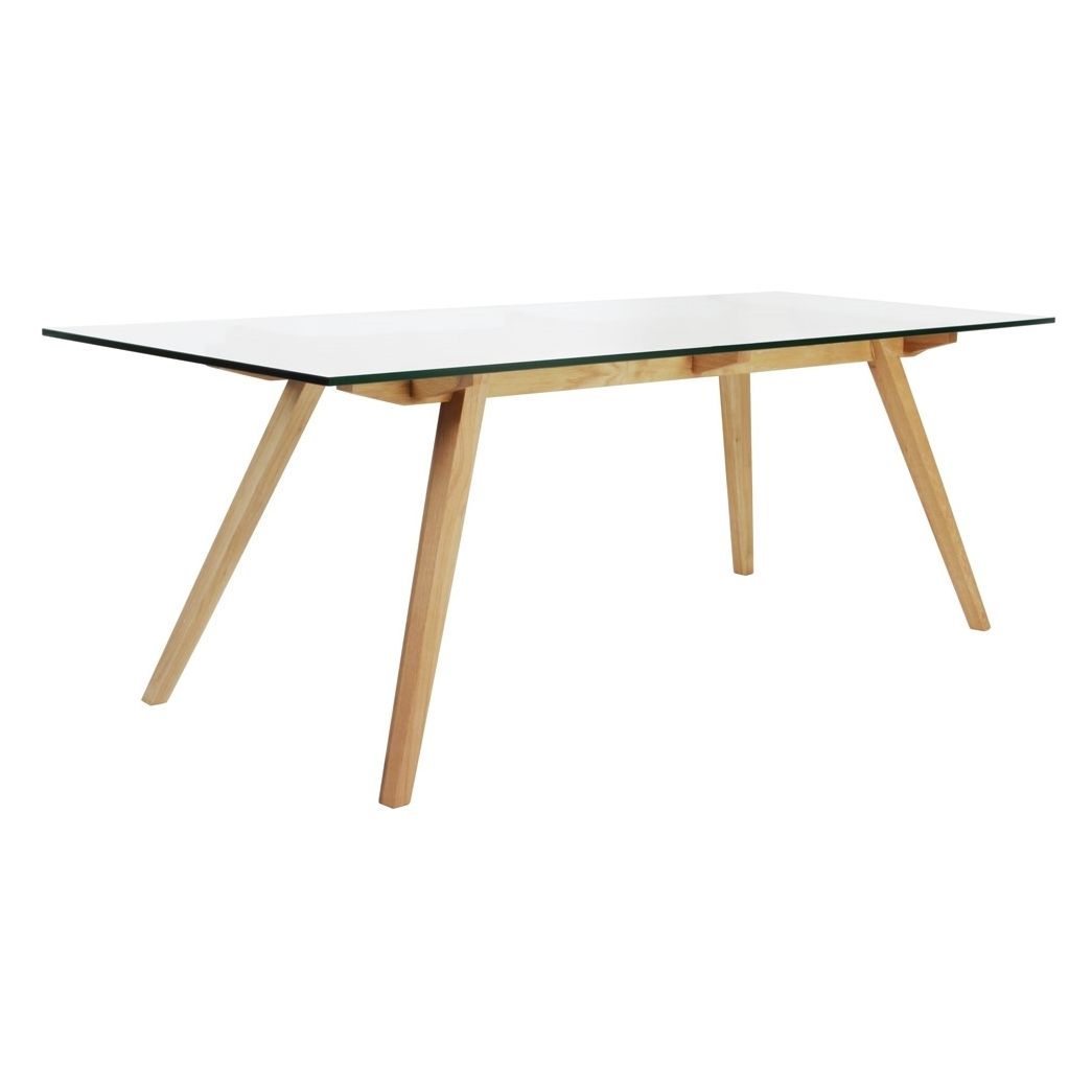 stockholm natural wood dining table 2