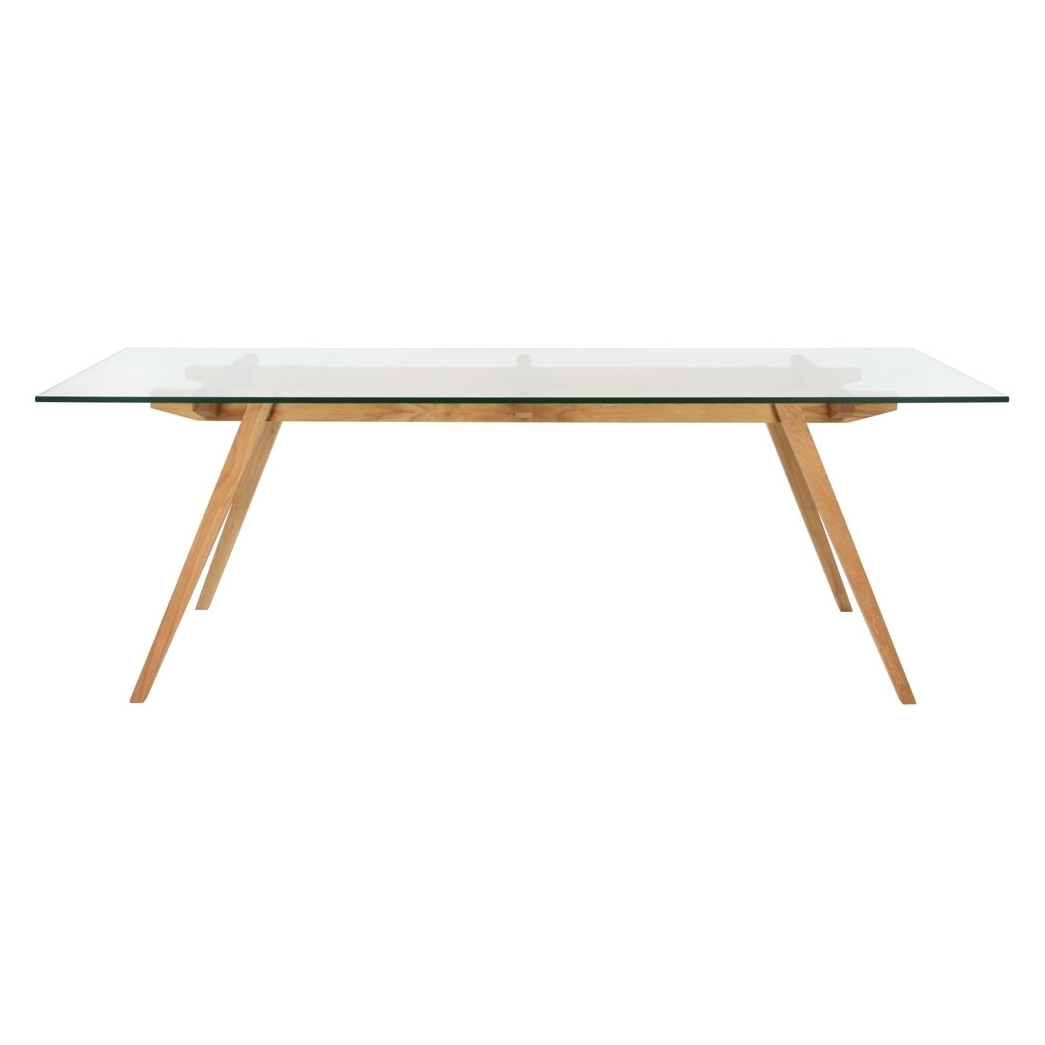 stockholm natural wood dining table