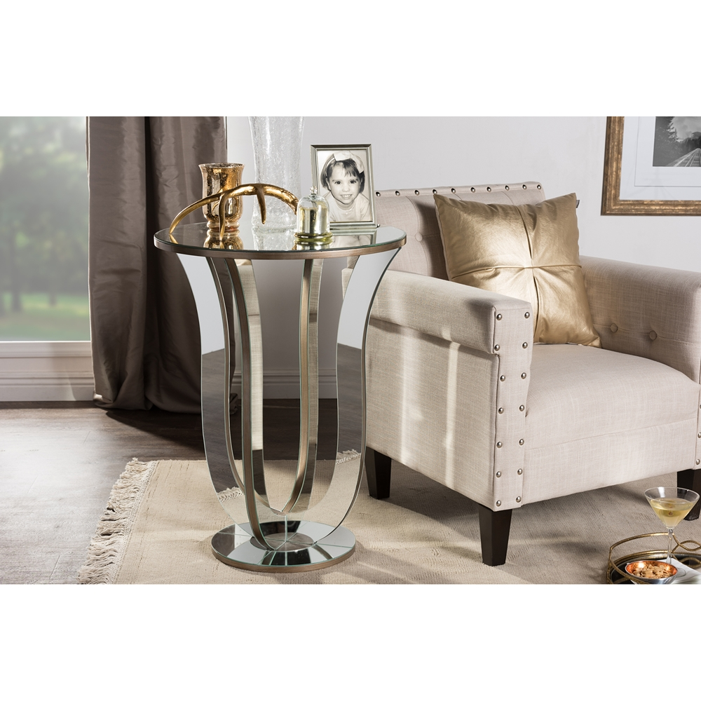 swan mirror end table 3