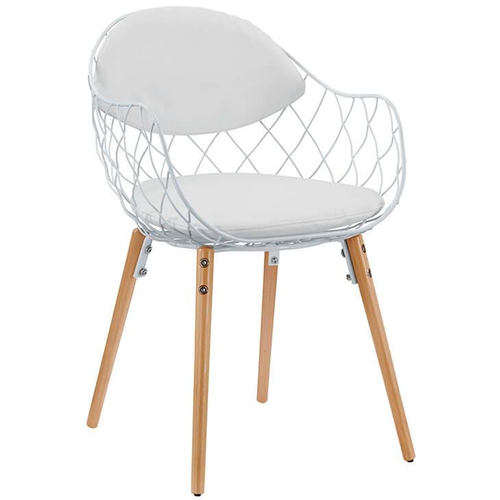 white wire net chair