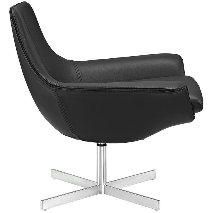 wing arm lounge chair