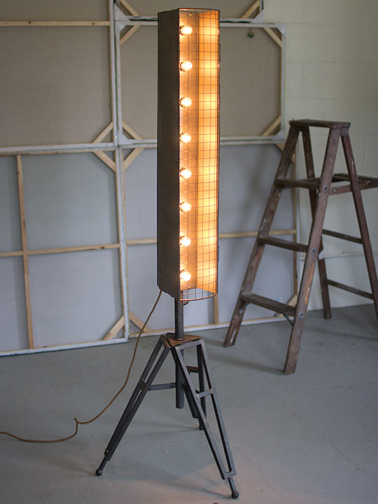 Industrial Wire Floor Lamp