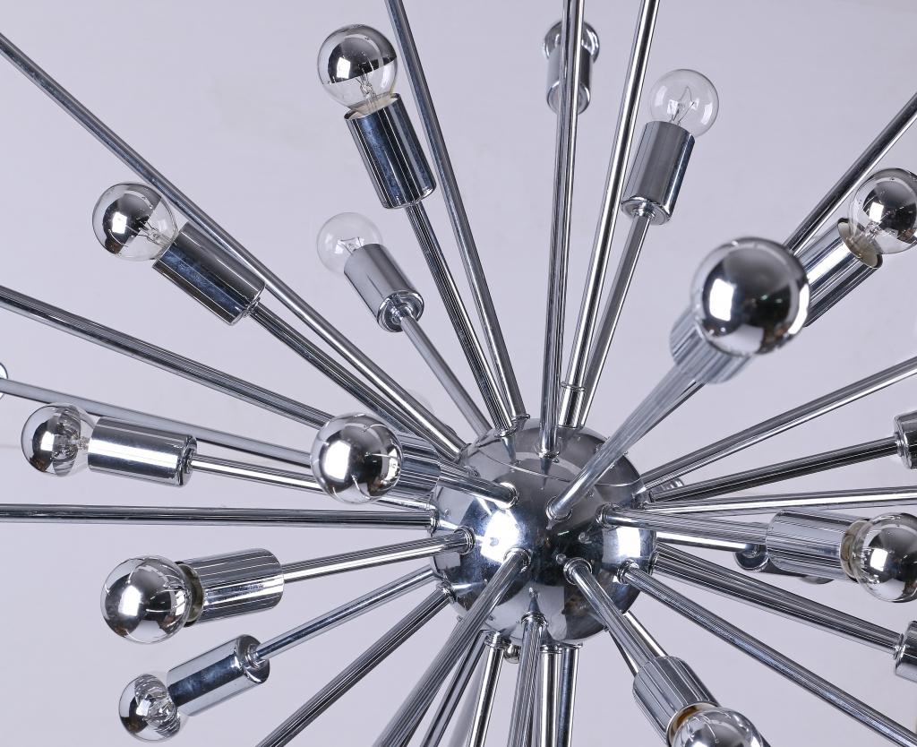 Sputnik large silver chandelier 2