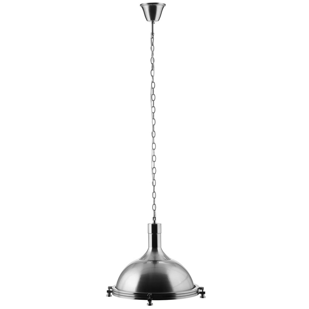 bell silver pendant light