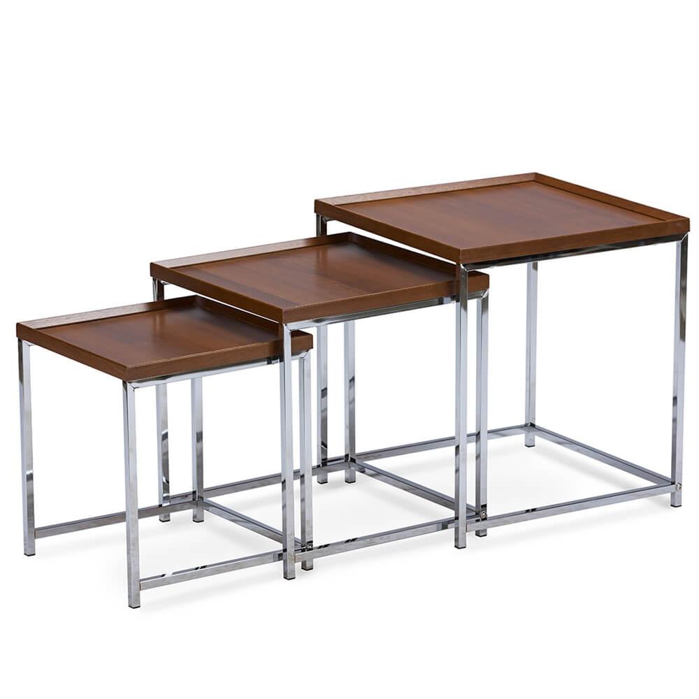brim walnut wood nesting tables 2
