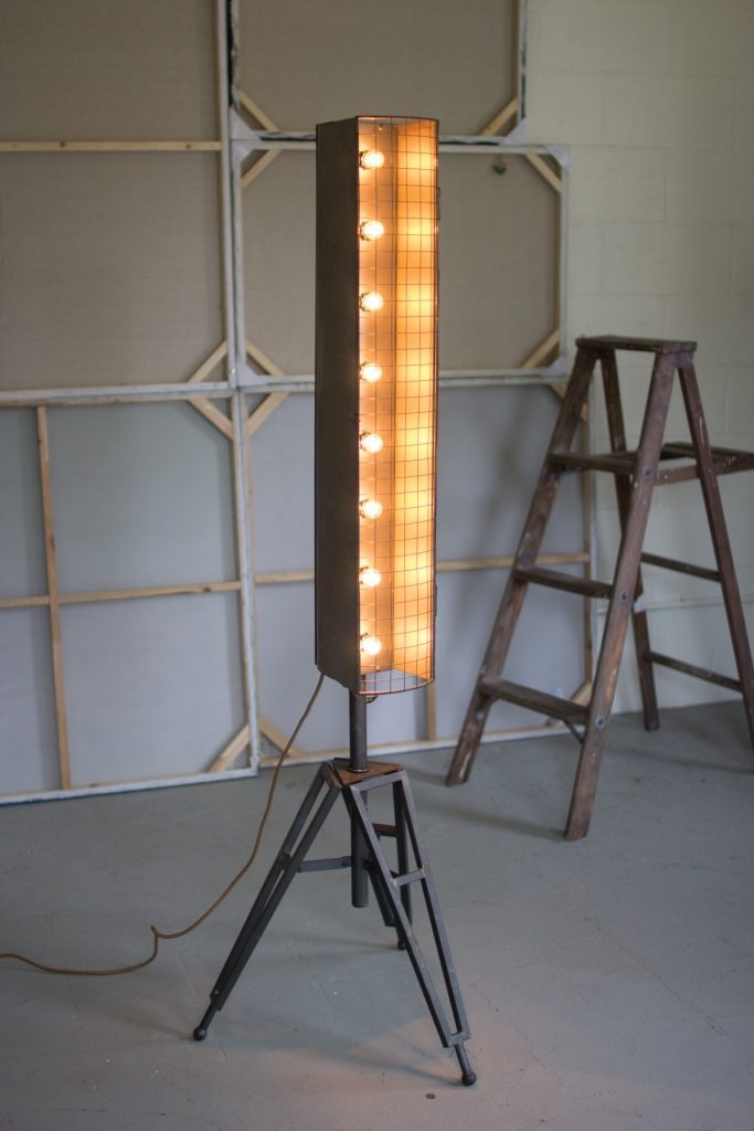 industrial spotlight floor lamp