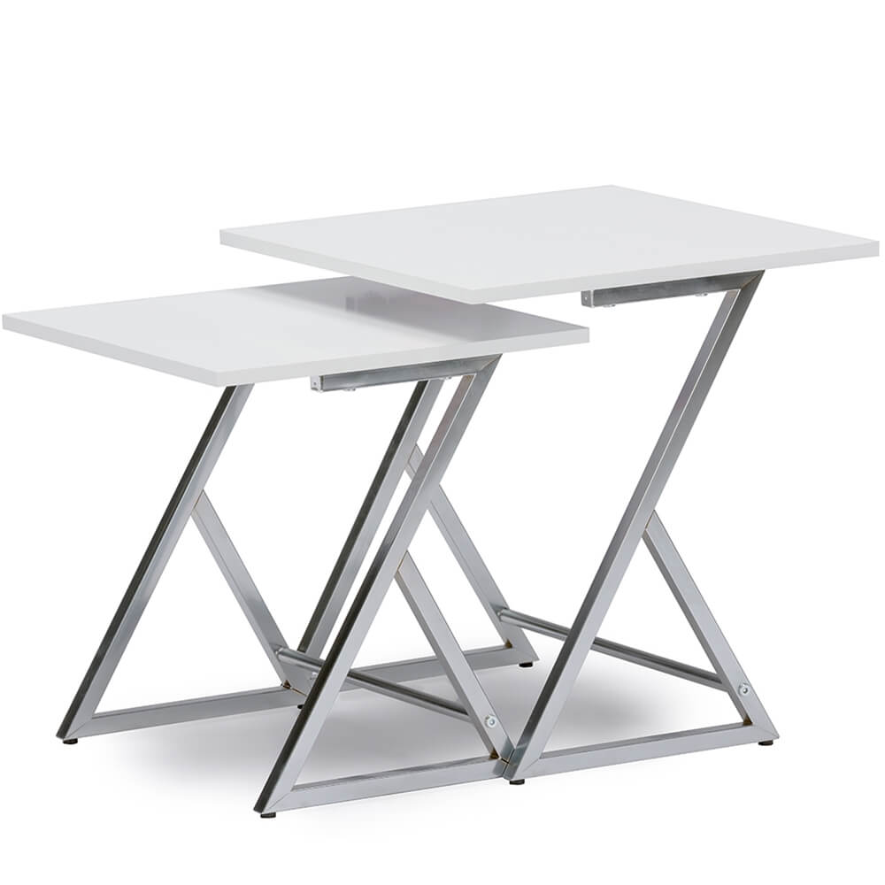 milan white nesting table set 2