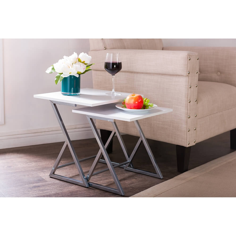 milan white nesting table set 5