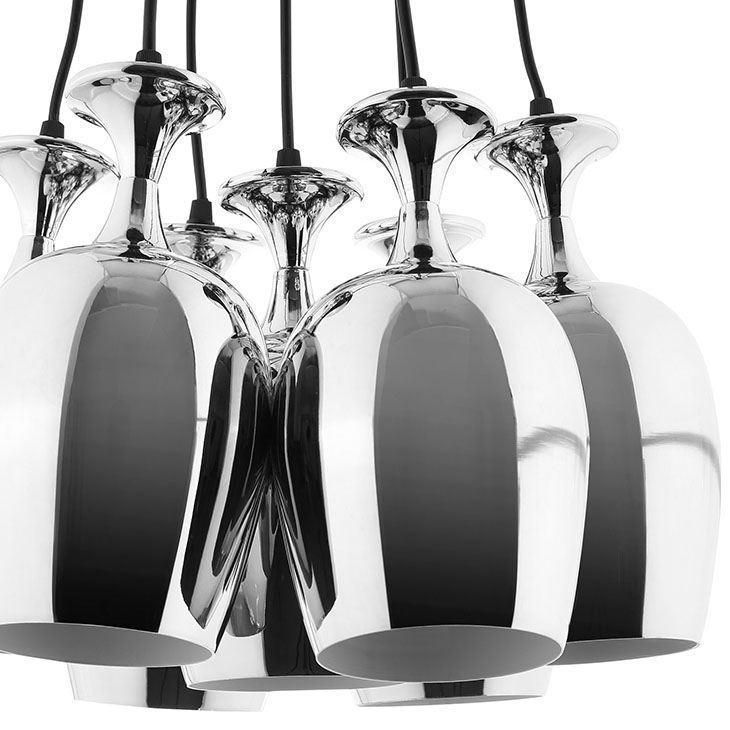 silver cups chandelier 2