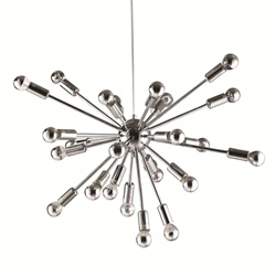 sputnik medium silver chandelier